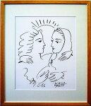 ピカソ版画「鳩と婦人達」