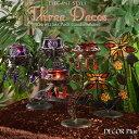 3色デコ カラフルグラスポッド キャンドルホルダー キャンドルスタンド ガラス 燭台 アンティーク風 雑貨 アンティーク クラ…