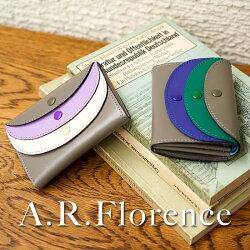 A.R.Florence(A.R.フローレンス)/3色ポケットレザーコインケース小銭入れミニウォレットかわいい