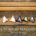 イタリア製 ハンドバッグ ローラディマッジオ LAURA DI MAGGIO メタリックカラーが映える!本革使用トライアングルポーチ 三角ポ…