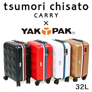 プレゼント付き!<32L・3,2kg>TSAロック ツモリチサト ヤックパック コラボキャリーケース スーツケース バッグ 4色 軽い ネコ ドットtsumorichisato CARRY(キャリー)