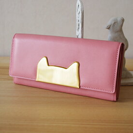 プレゼント付き!ツモリチサト 長財布 かぶせtsumorichisato 財布ネコフレーム CARRY(ツモリチサト キャリー tsumori chisato CARRY)ツモリチサト 長財布