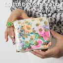 プレゼント付き!ツモリチサト 2つ折り財布 ラウンドファスナー ドットフラワーネコ tsumori chisato CARRY 花柄とドットプリント…