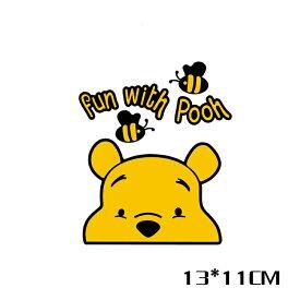 【送料無料】ひょっこり くまのプーさん fun with pooh ぷーさん ウォールステッカー ディズニー  自動車用 カーステッカー baby in car  13*11cm G41