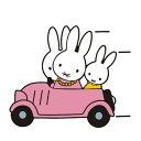 【送料無料】ミッフィー家族でドライブ miffy ナインチェ・プラウス うさこちゃん うさぎ 自動車 バイク用ステッカー …