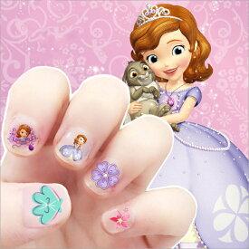 【送料無料】Disney Princess プリンセス ちいさなプリンセス ソフィア sofia ウォルト・ディズニー ネイルシール 約12*8cm 34〜38枚セット G28