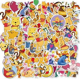 【送料無料】くまのプーさん ステッカー イーヨー ピグレット ティガー ラビット Winnie the Pooh ウォルト・ディズニー ウォールスッテッカー 壁紙シール wallsticker 3〜6cm*50枚セット G371
