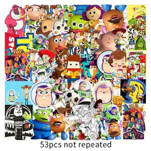 【送料無料】トイ・ストーリー ステッカー Toy Story ウォルト・ディズニー ウォールスッテッカー 壁紙シール wallsticker 5.5〜8.5cm*53枚セット G372