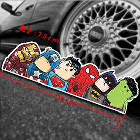 【送料無料】アベンジャーズ マーベルヒーロー アイアンマン キャプテンアメリカ スーパーマン スパイダーマン バットマン ハルク 自動車用ステッカー こどもが乗っています baby in car 26.5*7.5cm k21