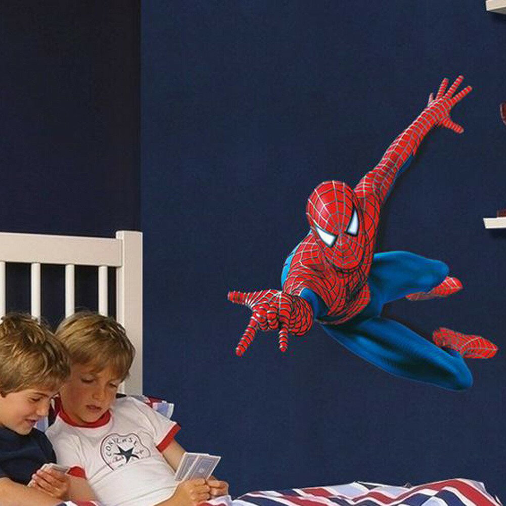 飛び出すスパイダーマン Spider-Man ウォールステッカー 90*110cm 110