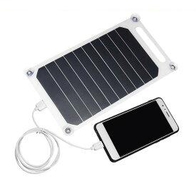 ポータブル ソーラーパネル /スマホ USB 充電 5V 10W 薄型 アウトドア 防災グッズ 単結晶シリコン ソーラーパネル