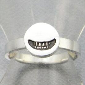 指輪 リング メンズ レディース シルバー スマイル 笑顔 アクセサリー ハンドメイド アクセサリー smile stamp2_S