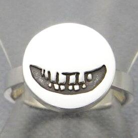 指輪 リング メンズ レディース シルバー スマイル 笑顔 アクセサリー ハンドメイド アクセサリー smile stamp2_L