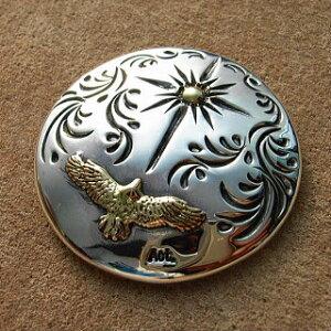 コンチョ シルバー メンズ レディース 鳥 送料無料 ハンドメイド 手彫り