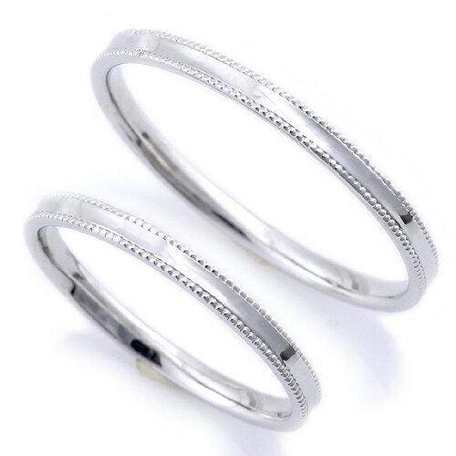 マリッジリング「ツインミル」【送料無料】ペア販売  pt900 プラチナリング 結婚指輪 1本でのご購入もできますので、お問い合わせください。