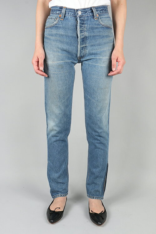 HIGH RISE ANKLE ZIP BLUE (1042HRAZ) 24size-4 RE/DONE -Women-(リダン)