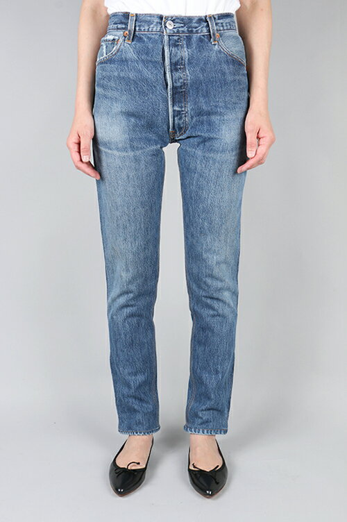 HIGH RISE ANKLE ZIP BLUE (1042HRAZ) 24size-6 RE/DONE -Women-(リダン)