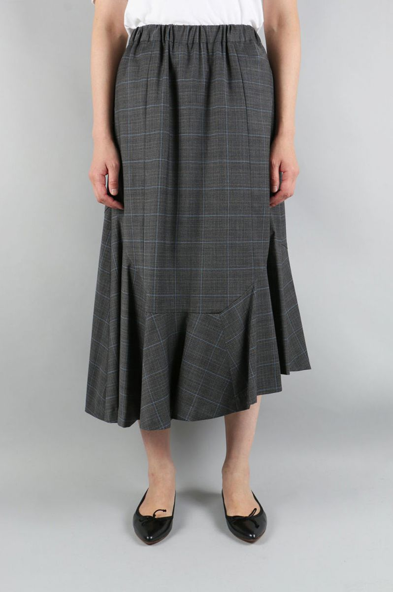 Glen Check Assymetry Skirt (1705F03003) Florent(フローレント)