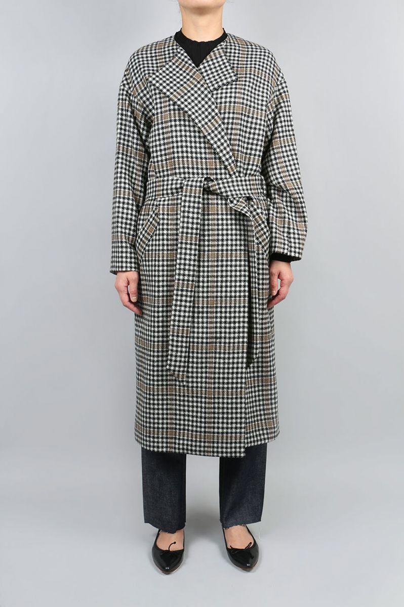 Shetland Check Coat (1705F08006) Florent(フローレント)