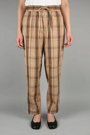 Check Easy Pants (1219-81070) Scye Basics -Women-(サイ・ベーシックス)