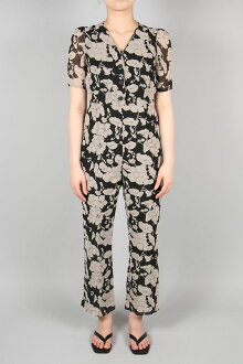Flower Georgette Combinaison-BLACK(11910339) Todayful (full today)