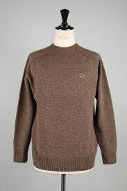 Shetland Wool Crew Neck Sweater -BROWN- (5119-13600) Scye Basics -Men-(サイ・ベーシックス)