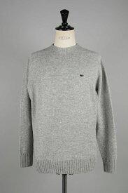 Shetland Wool Crew Neck Sweater -TOP GREY- (5119-13600) Scye Basics -Men-(サイ・ベーシックス)