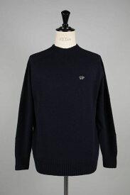 Shetland Wool Crew Neck Sweater -NAVY- (5119-13600) Scye Basics -Men-(サイ・ベーシックス)