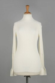 Flarecuffs Rib Knit-OFF WHITE(11920531) Todayful(トゥデイフル)