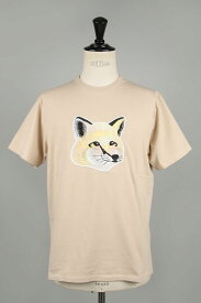 【20%OFF】 【20%OFF】 TEE-SHIRT PASTEL FOX HEAD EMBROIDERY-BEIGE-(EM00153KJ0010 / KMM10040) Maison Kitsune -Men-(メゾン・キツネ)