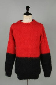【30%OFF】x FRAGMENT MOHAIR JUMPER / HALF N HALF KNIT (MJHH07RB) AKA SIX by Simon Barker(エーケーエー・シックス・バイ・サイモン・バーカー)