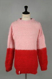 【30%OFF】x FRAGMENT MOHAIR JUMPER / HALF N HALF KNIT (MJHH07PR) AKA SIX by Simon Barker(エーケーエー・シックス・バイ・サイモン・バーカー)