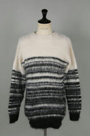 【20%OFF】x FRAGMENT MOHAIR JUMPER / SCRAP (MJS07WB) AKA SIX by Simon Barker(エーケーエー・シックス・バイ・サイモン・バーカー)