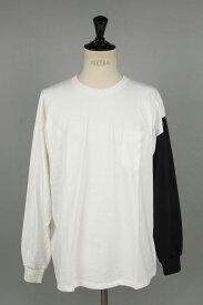 キャプテンサンシャイン West Coast Long Sleeved Tee - WHITE & NEVY COMBO × NAVY LINE (KS20FCS13)【正規取扱店】
