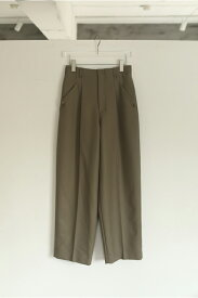 Wool Twill Trousers -OLIVE (12020704) Todayful(トゥデイフル)