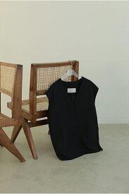 [17時までで最短翌日発送]Collarless Twill Vest-BLACK(12110105) Todayful(トゥデイフル)