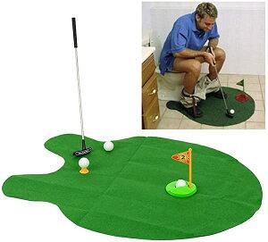 [ ゴルフ好き には もってこいの プレゼント ] トイレ で 楽しむ ゴルフパター 練習 マット ボール ゴルフ インテリア コンペ 面...