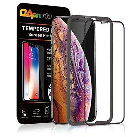 [改善版 XR フィルム]OAproda iPhone XR ガラスフィルム 液晶保護強化ガラス 3D全面 フルカバー [ガイド枠付き][存在感ゼロ/画面...