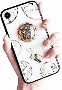 iPhone11 ケース リング付き 可愛い 時計柄 iPhone11カバー リング キラキラ 懐中時計デザイン スマホケース 6.1インチ専用 アイ...