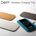 Deff(ディーフ) Deff ワイヤレス充電トレー 最大15W 高速充電 置くだけで充電 PUレザーを纏ったお皿状のデザイン