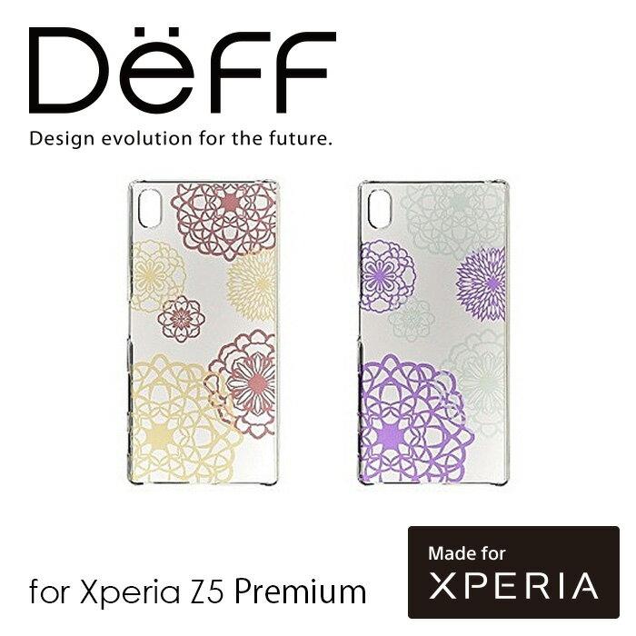 【アウトレット/箱汚れ】Xperia Z5 Premium 用 花模様 切り紙作家 矢口加奈子デザイン ケース