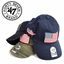 47Brand フォーティーセブンブランド クリーンナップ CLEAN UP USA アメリカ国旗 星条旗 キャップ スナップバック 帽子 メンズ レディース あす楽