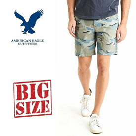 アメリカンイーグル AMERICAN EAGLE 迷彩 カモフラ チノショーツ ハーフパンツ 38 40インチ 大きいサイズ メンズ あす楽