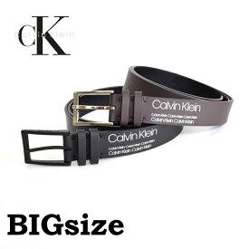 CK カルバンクライン Calvin Klein リバーシブル 本皮 黒 ブラック 茶色 ブラウン 38 40 42インチ 大きいサイズ メンズ あす楽