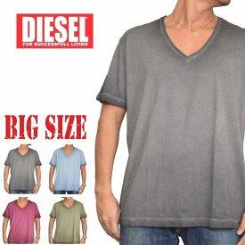 DIESEL ディーゼル 半袖 Vネック Tシャツ 無地 T-HIDEA XXL XXXL 大きいサイズ メンズ あす楽
