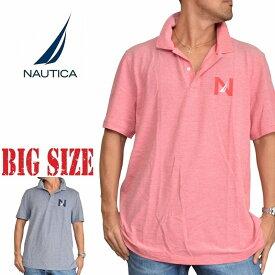 NAUTICA ノーティカ ノーチカ ポロシャツ 鹿の子 ワンポイント 半袖 ネイビー レッド 赤 XL XXL XXXL 大きいサイズ メンズ あす楽