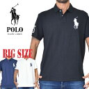 ポロラルフローレン POLO RALPH LAUREN ビッグポニー 鹿の子 半袖ポロシャツ custom slim fit XL XXL 大きいサイズ メンズ あす楽