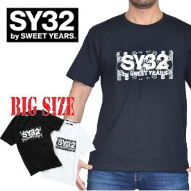 SY32 by SWEET YEARS スウィートイヤーズ ペイズリーボックスロゴ 半袖 Tシャツ PAISLEY BOX LOGO TEE XXL XXXL XXXXL 大きいサイズ メンズ [M便 1/1]