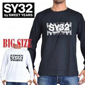 SY32 by SWEET YEARS スウィートイヤーズ PAISLEY BOX LOGO L/S TEE ロンT 長袖Tシャツ バンダナ ペイズリー柄 ボックスロゴ XXL XXXL XXXXL 大きいサイズ メンズ [M便 1/1]