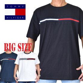 TOMMY HILFIGER トミーヒルフィガー ロゴ 刺繍 半袖Tシャツ XL XXL XXXL TINO 大きいサイズ メンズ [M便 1/1]